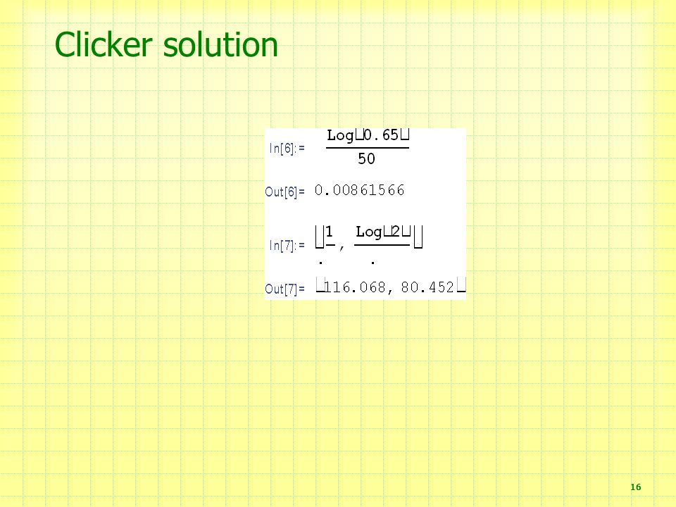 Clicker solution