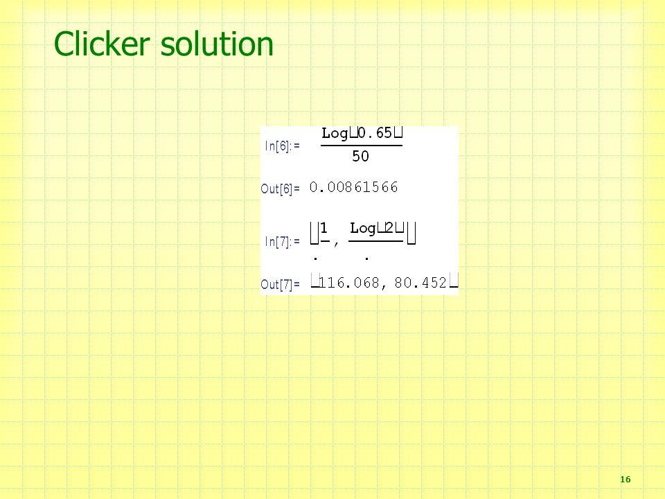 Clicker solution