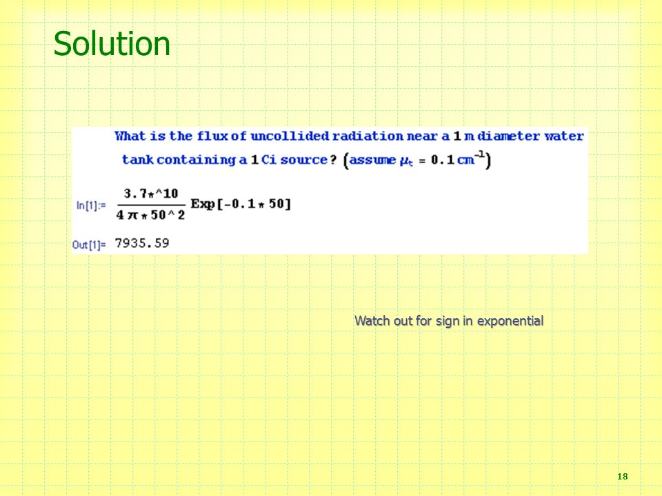 Solution Watch out for sign in exponential
