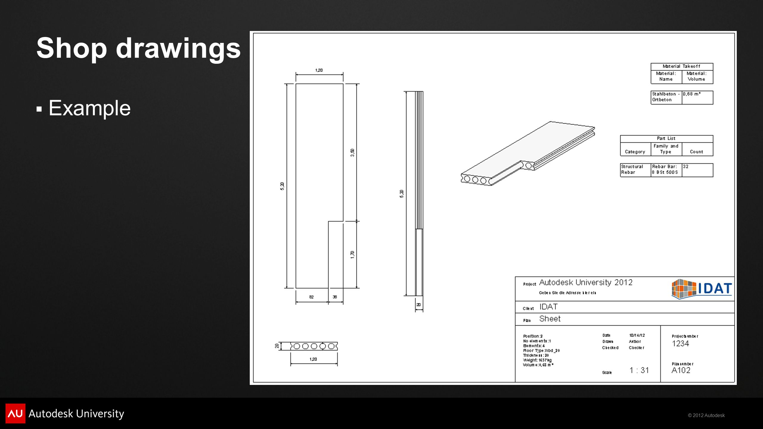 Shop drawings Example