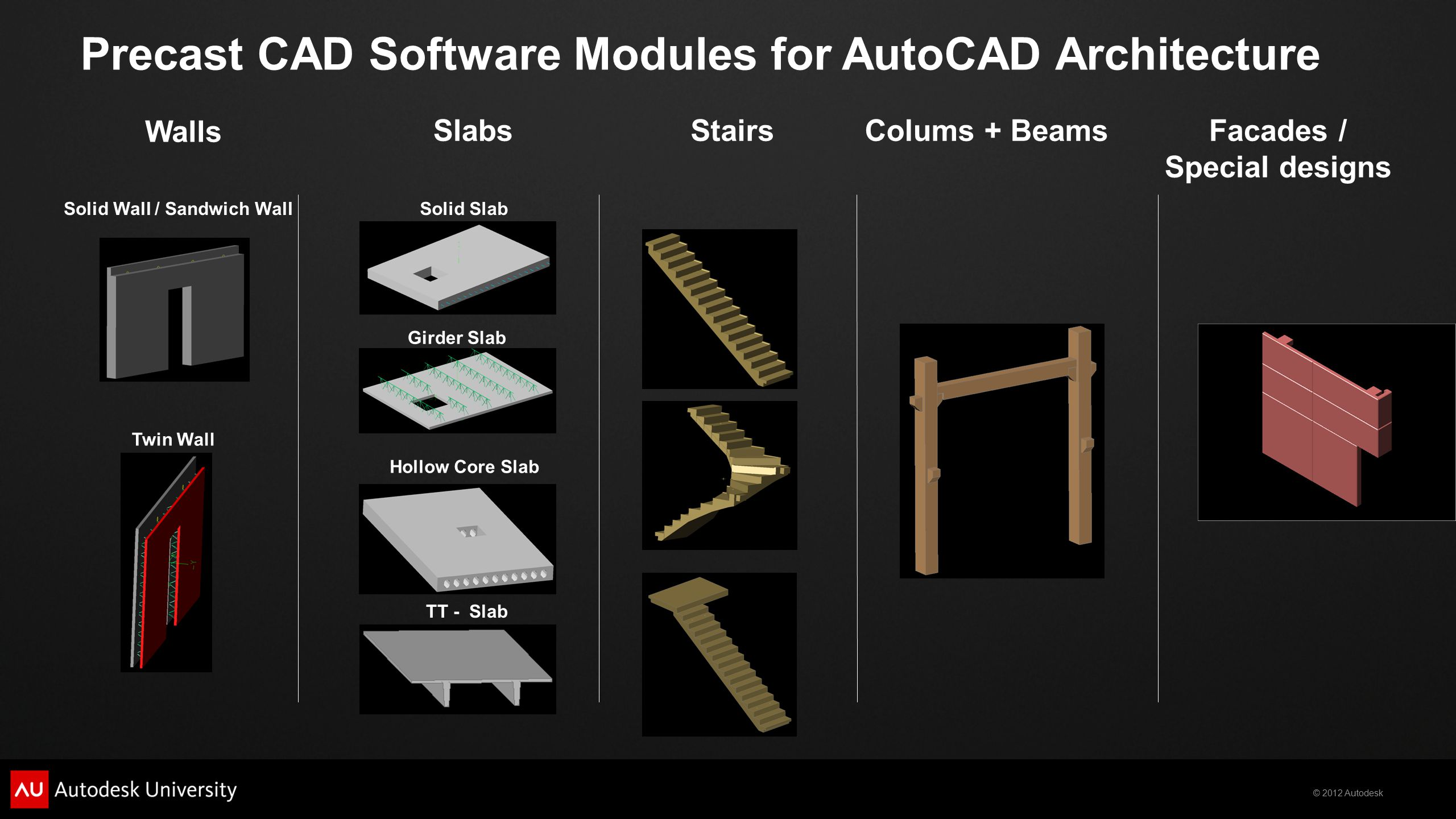 Precast CAD Software Modules for AutoCAD Architecture