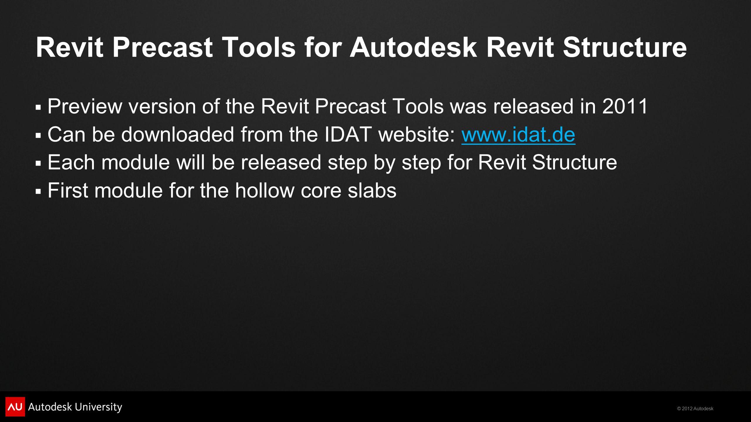 Revit Precast Tools for Autodesk Revit Structure