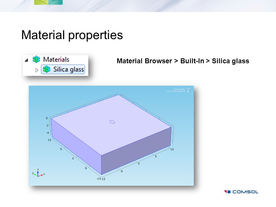 Material Browser > Built-In > Silica glass