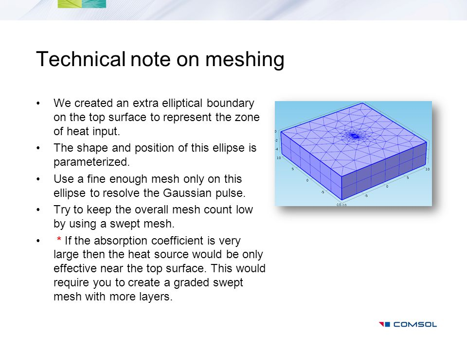 Technical note on meshing