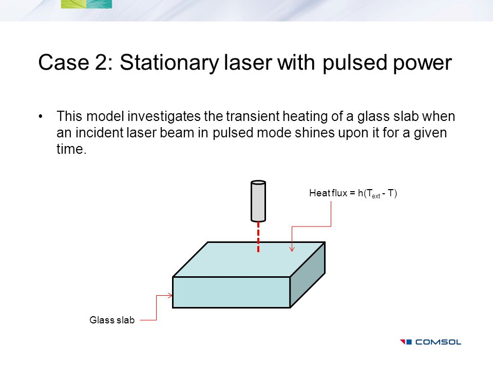 Case 2: Stationary laser with pulsed power