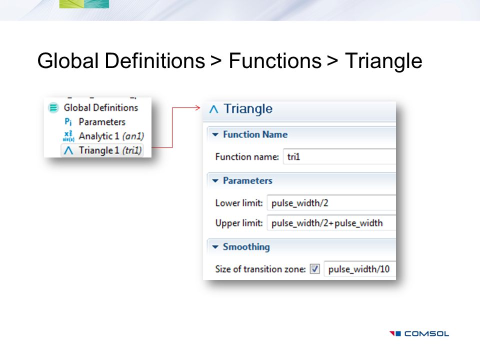 Global Definitions > Functions > Triangle