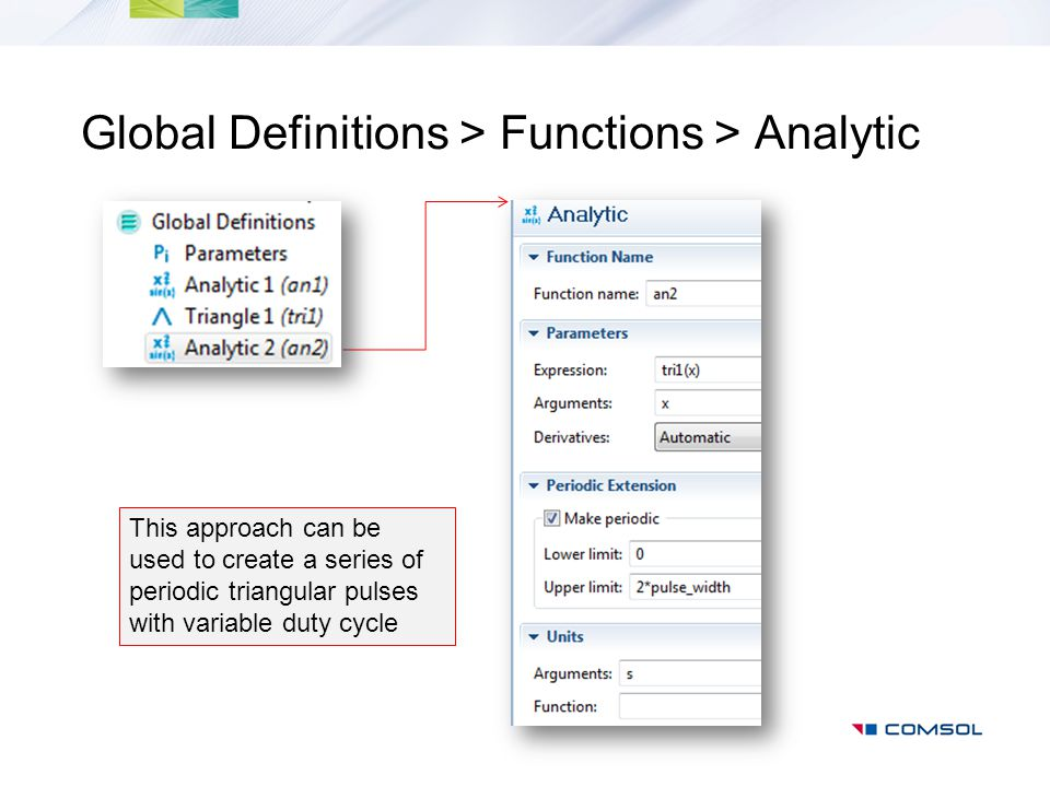 Global Definitions > Functions > Analytic