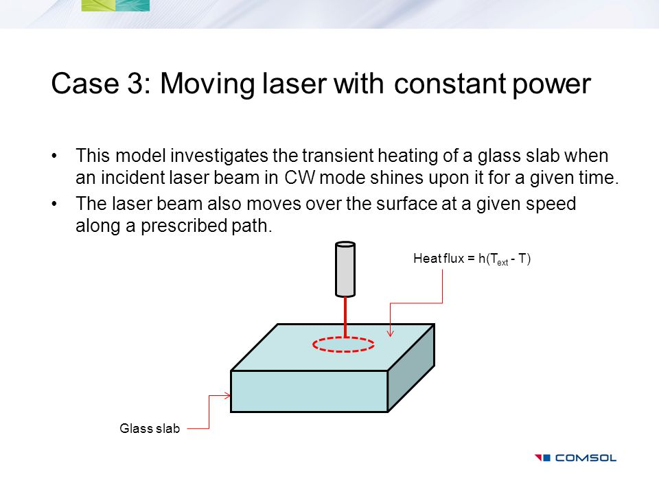 Case 3: Moving laser with constant power
