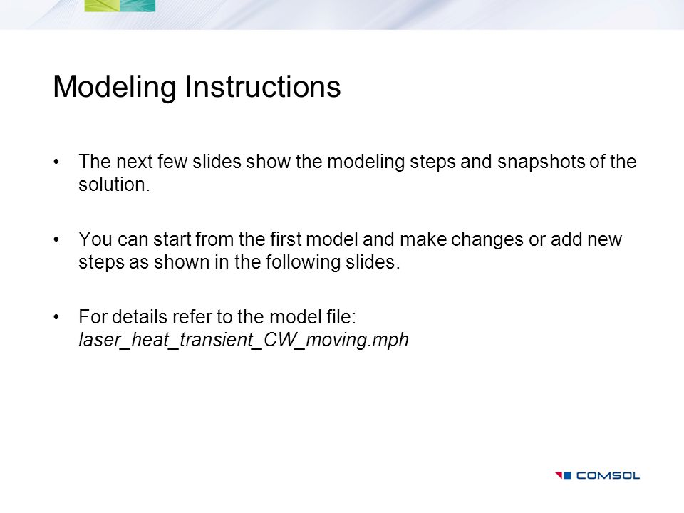 Modeling Instructions