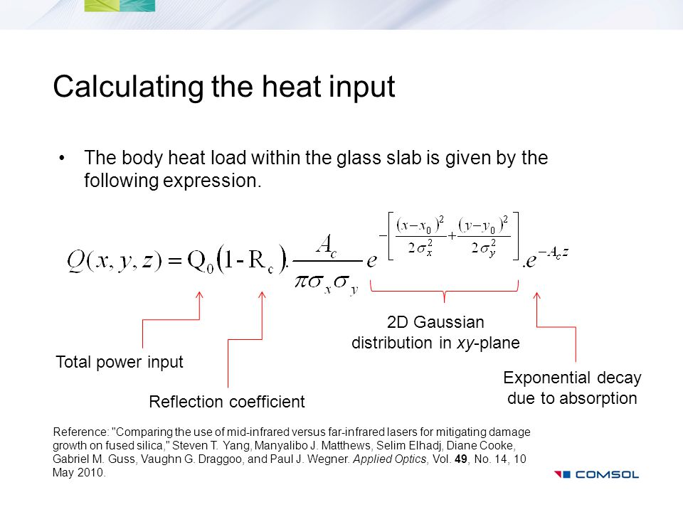 Calculating the heat input