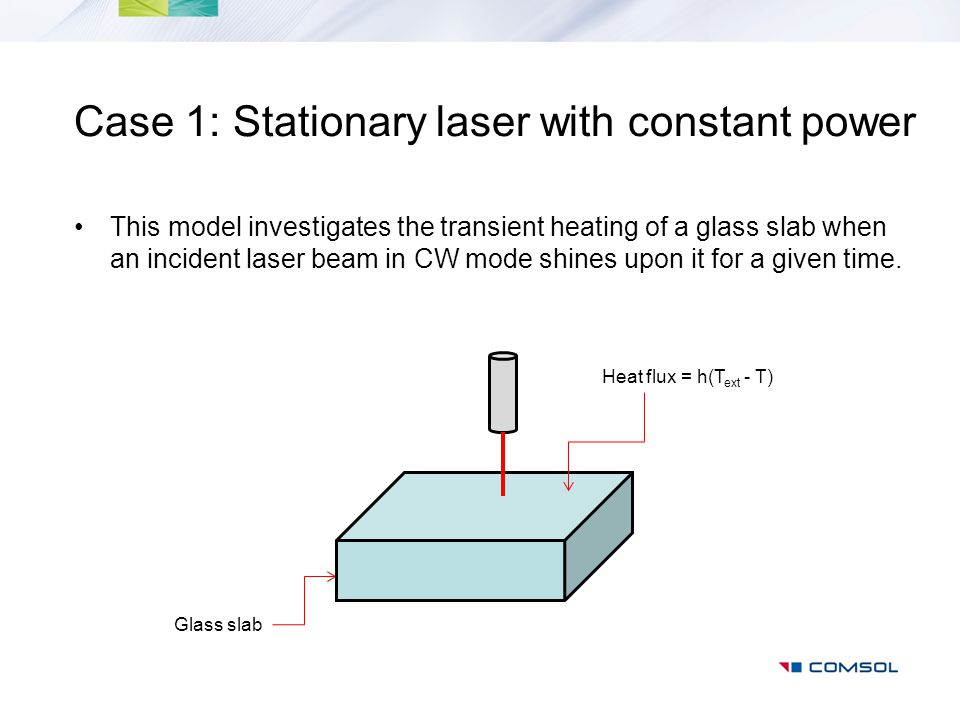 Case 1: Stationary laser with constant power