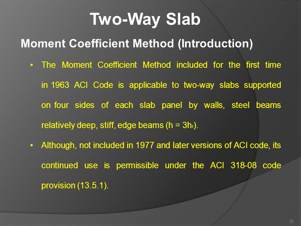 Two-Way Slab Moment Coefficient Method (Introduction)