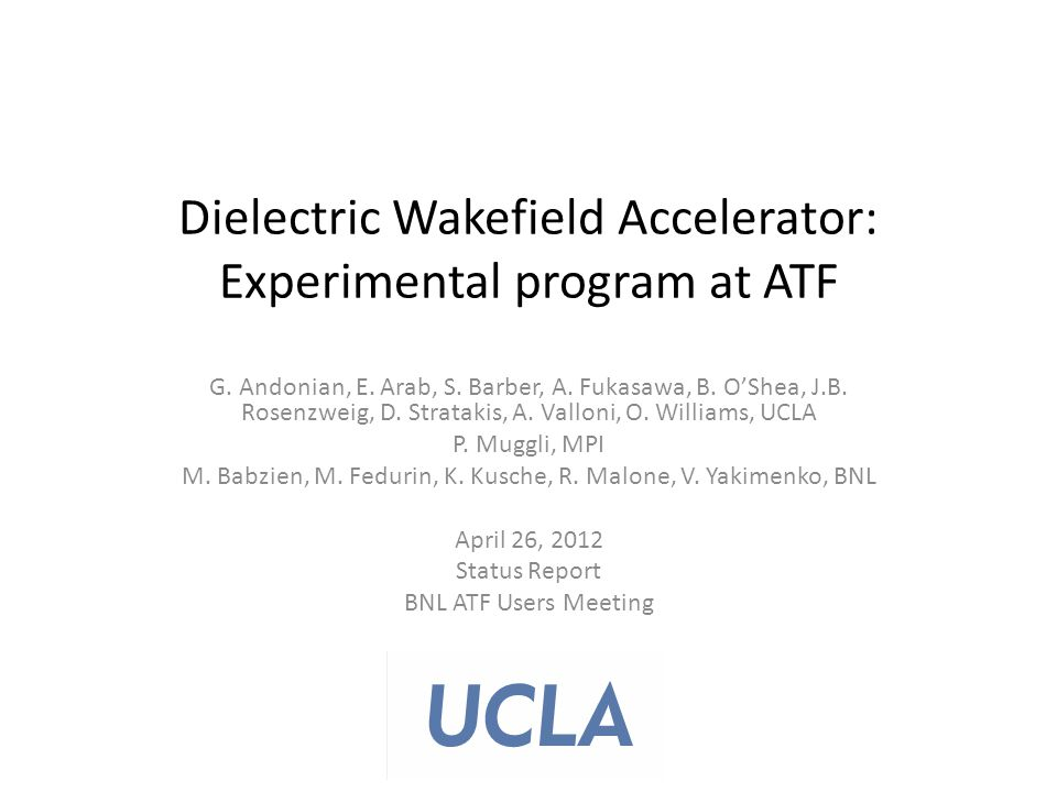 Dielectric Wakefield Accelerator: Experimental program at ATF