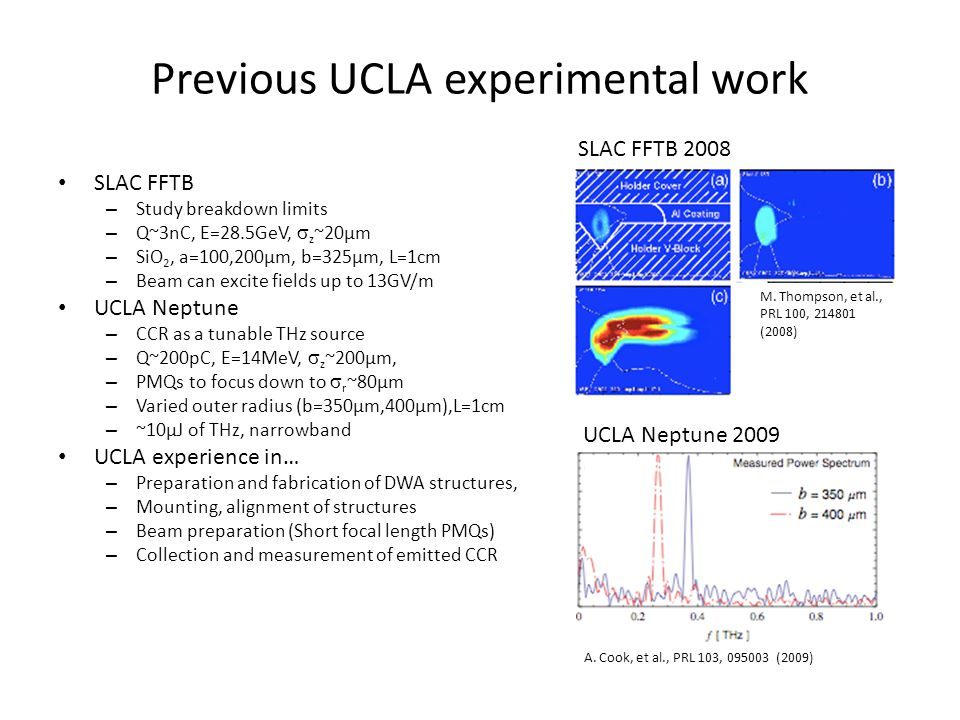 Previous UCLA experimental work