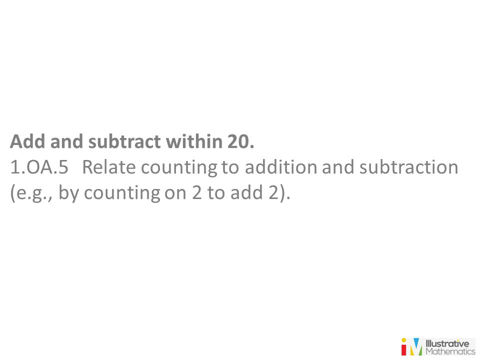 Add and subtract within 20.