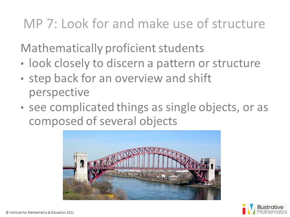MP 7: Look for and make use of structure
