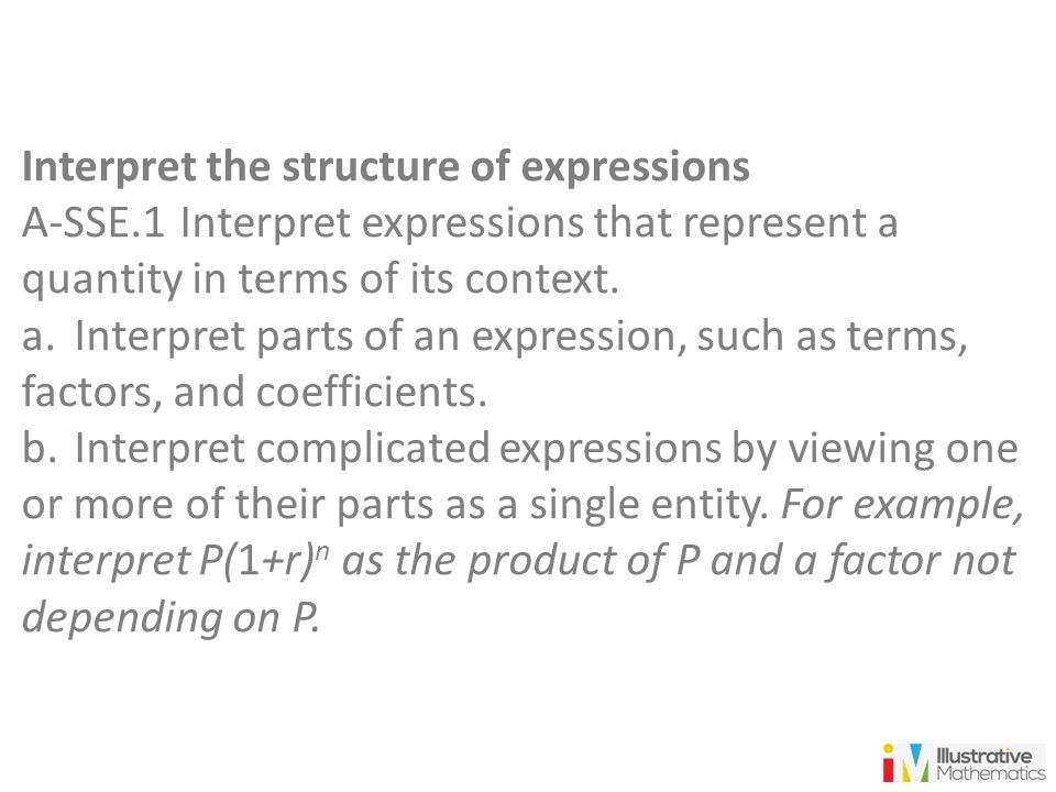 Interpret the structure of expressions
