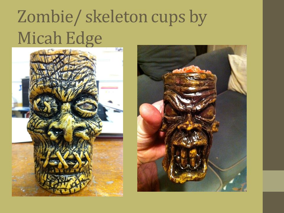 Zombie/ skeleton cups by Micah Edge