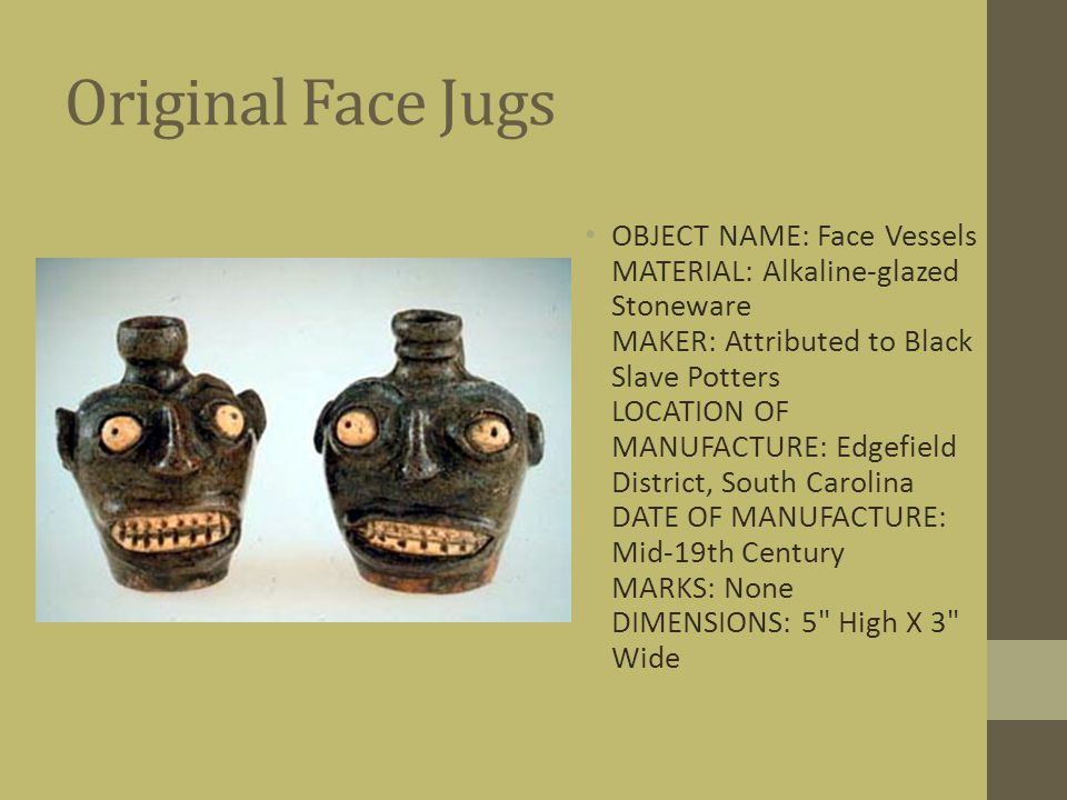 Original Face Jugs