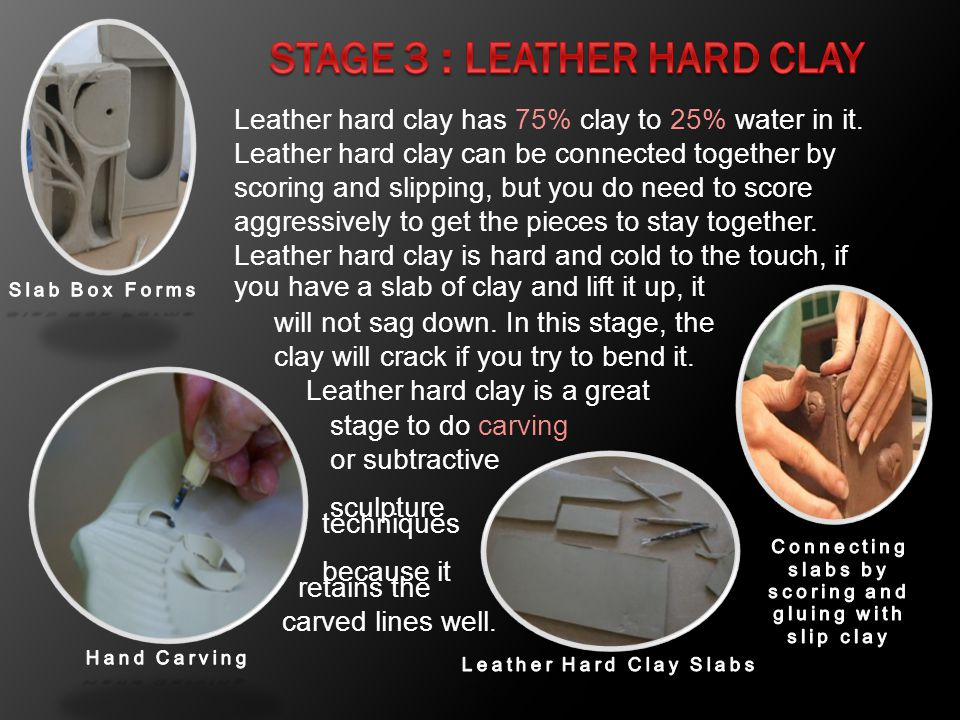 Stage 3 : Leather Hard Clay