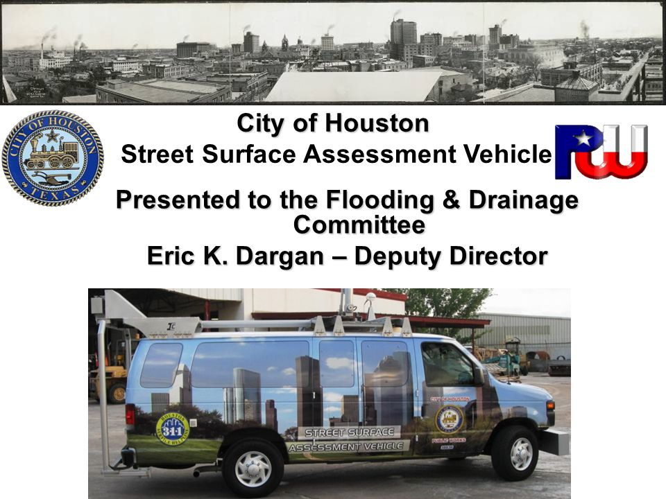 City of Houston Street Surface Assessment Vehicle