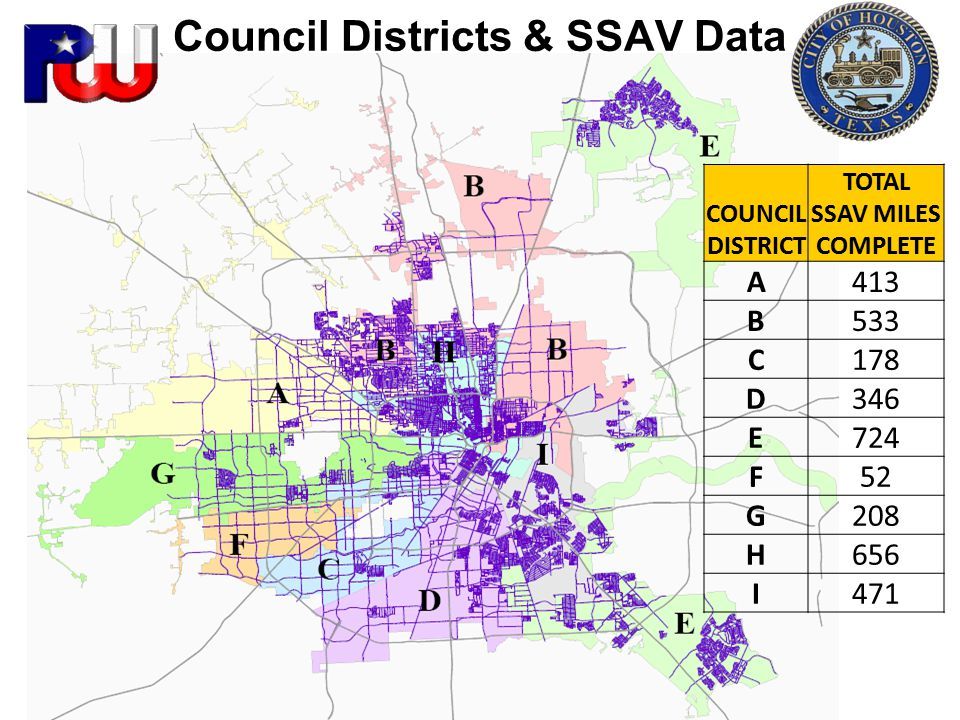 Council Districts & SSAV Data