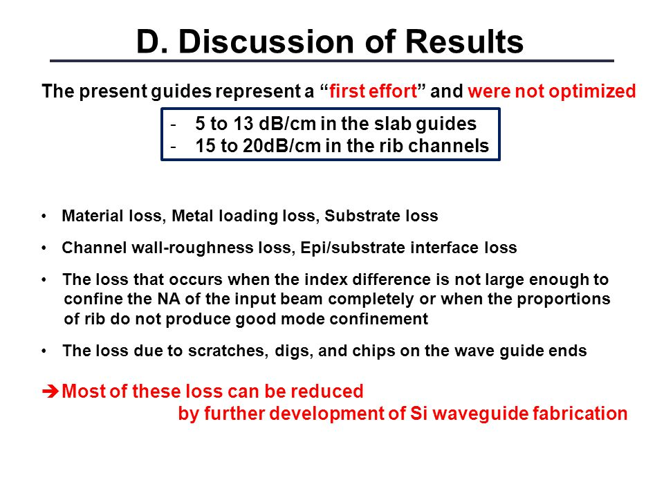 D. Discussion of Results