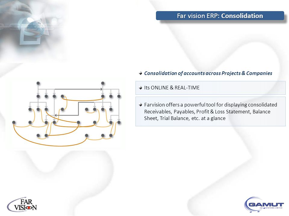 Far vision ERP: Consolidation