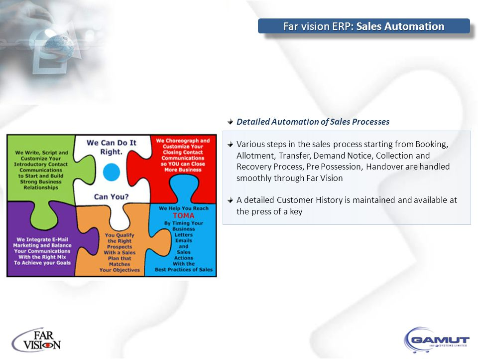 Far vision ERP: Sales Automation