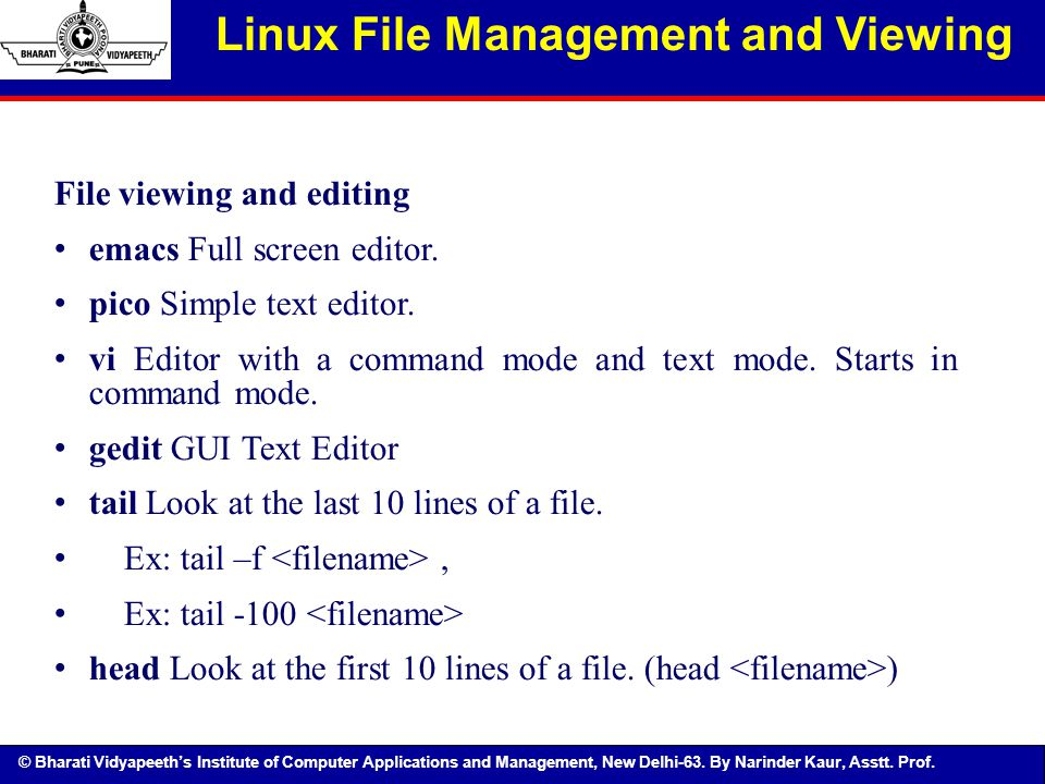 Linux File Management and Viewing