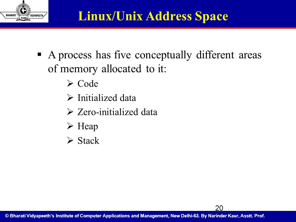 Linux/Unix Address Space