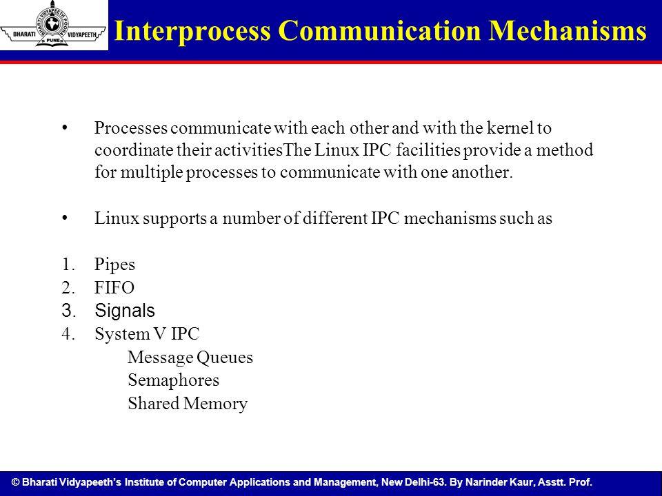 Interprocess Communication Mechanisms