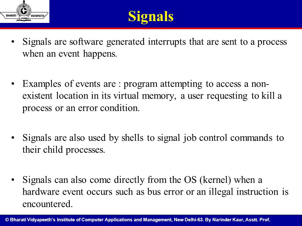system call how to send signals to other processes