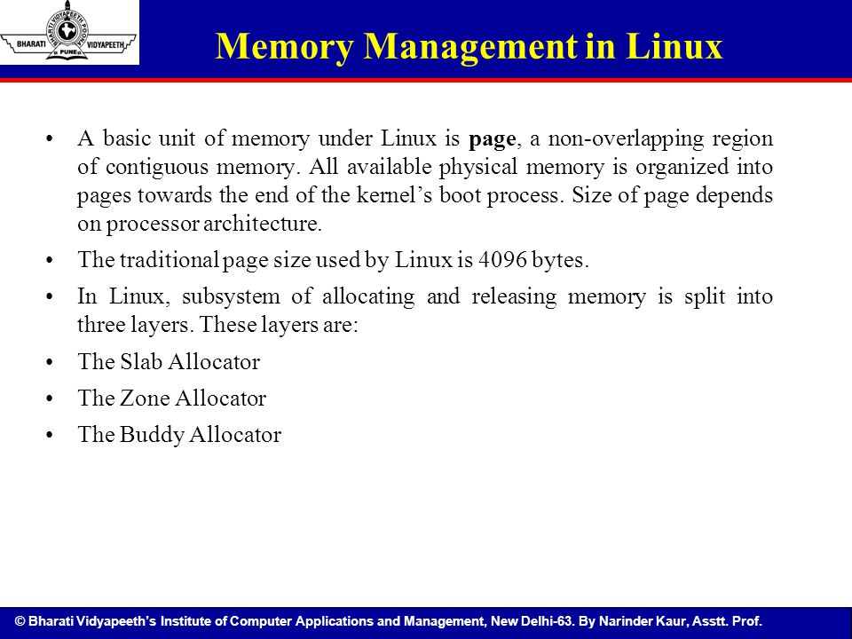 Memory Management in Linux