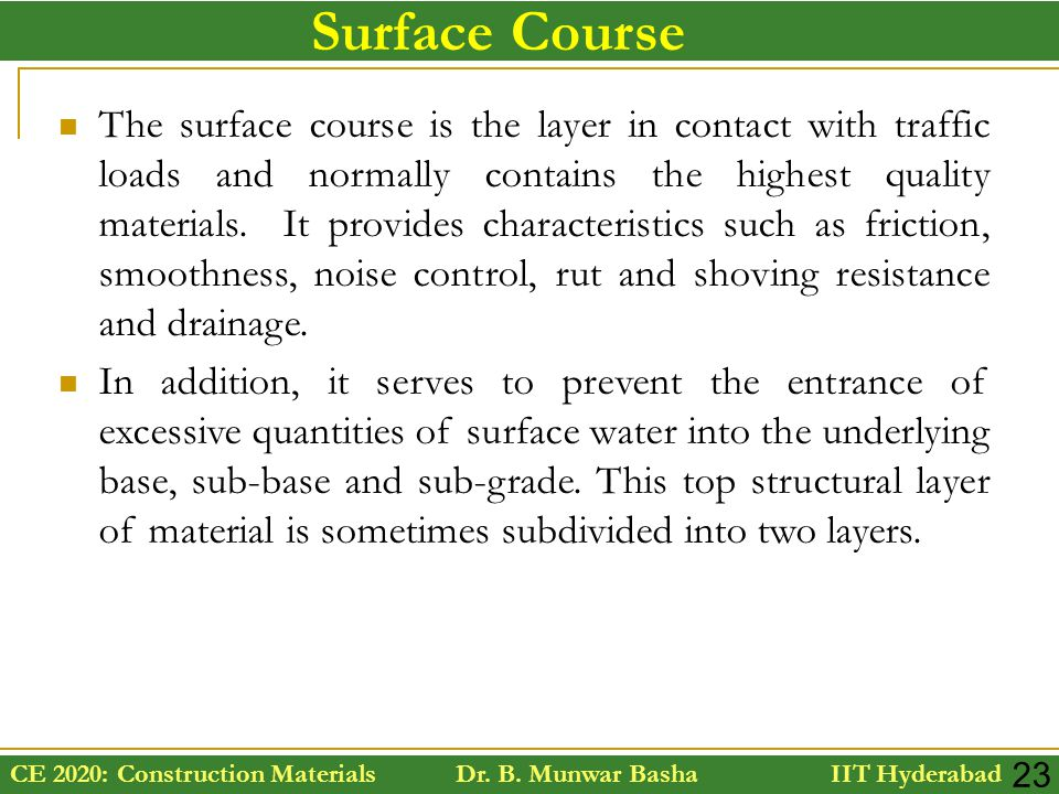 Surface Course