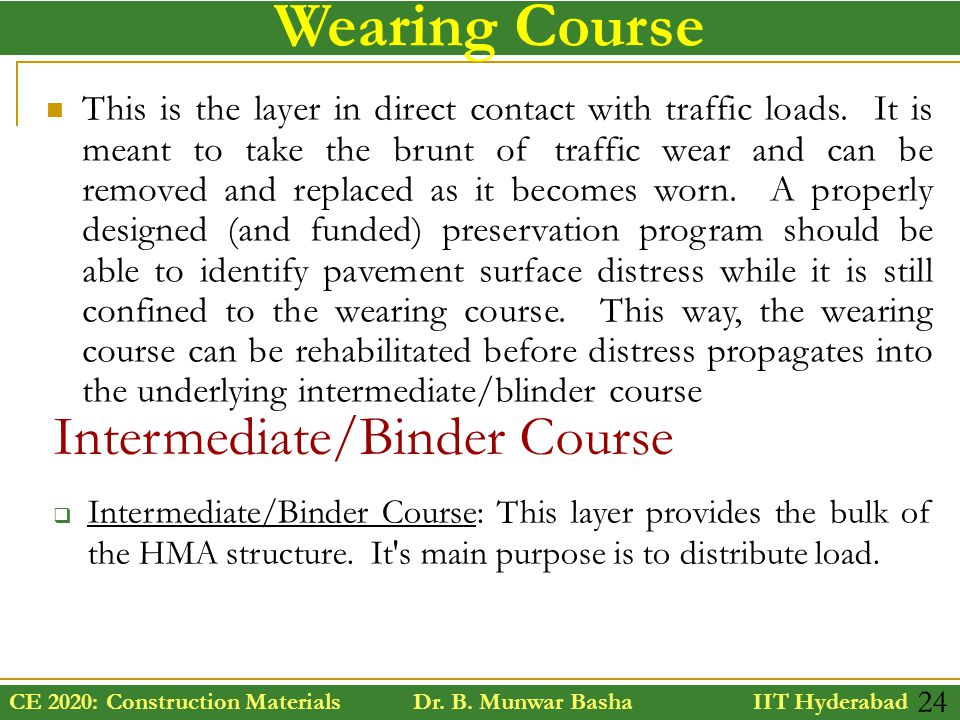Wearing Course Intermediate/Binder Course