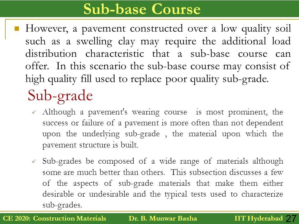 Sub-base Course Sub-grade