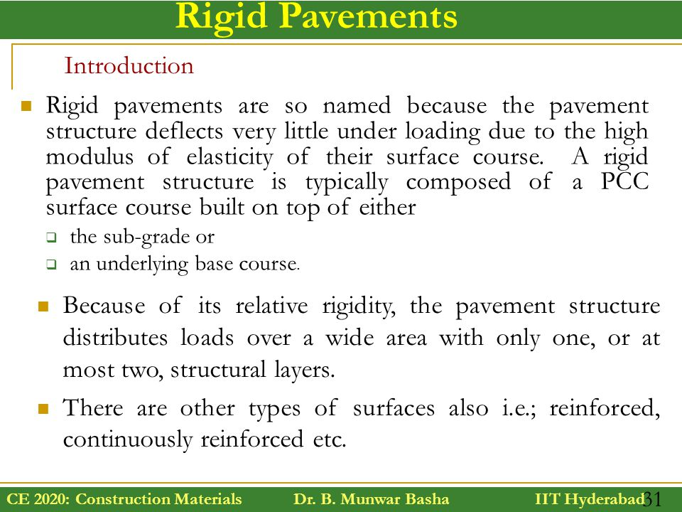 Rigid Pavements Introduction
