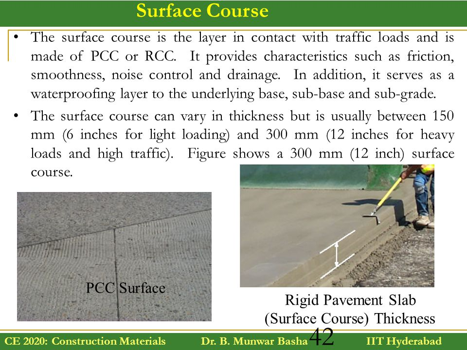 Rigid Pavement Slab (Surface Course) Thickness
