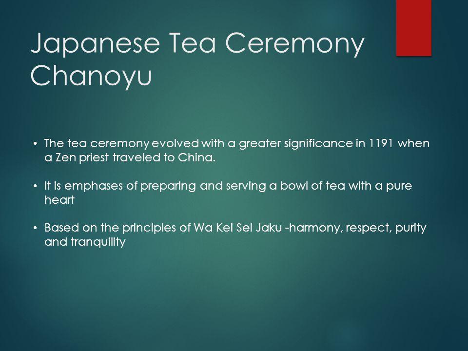 Japanese Tea Ceremony Chanoyu