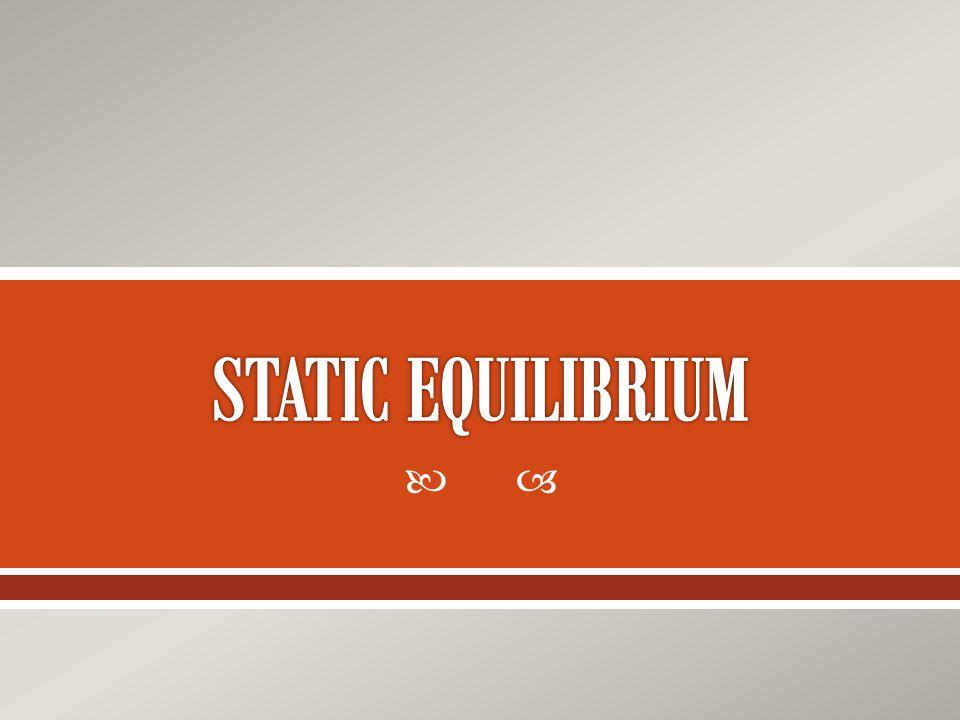 STATIC EQUILIBRIUM