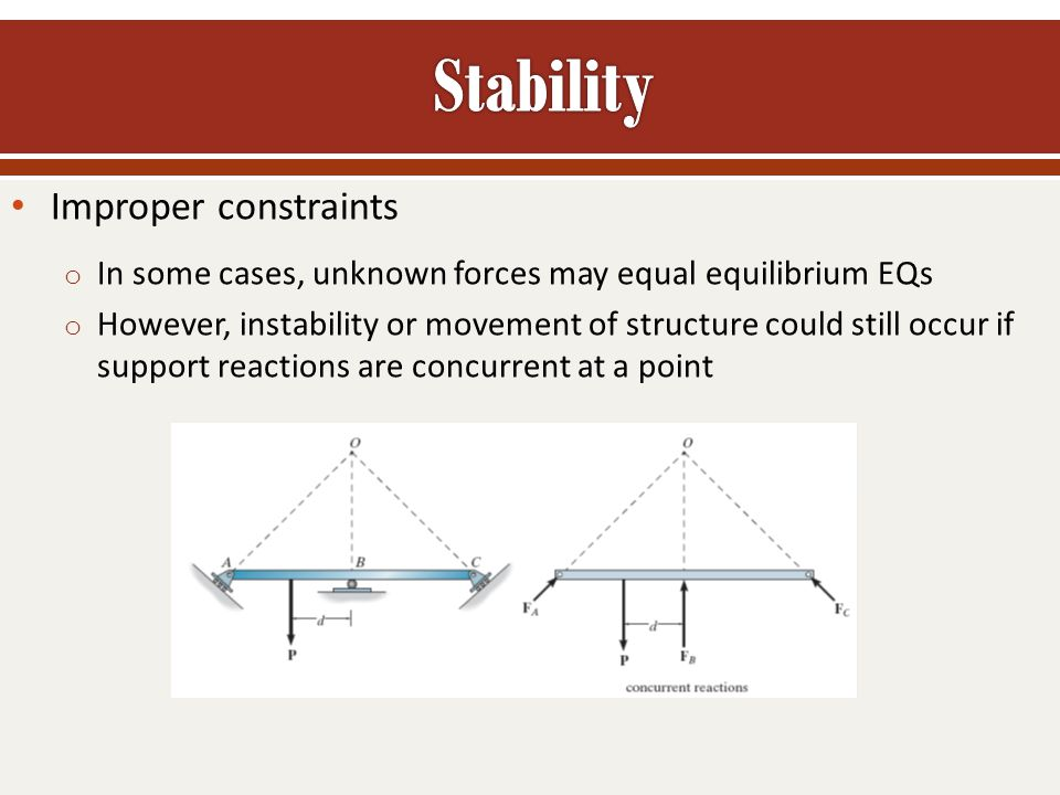 Stability Improper constraints