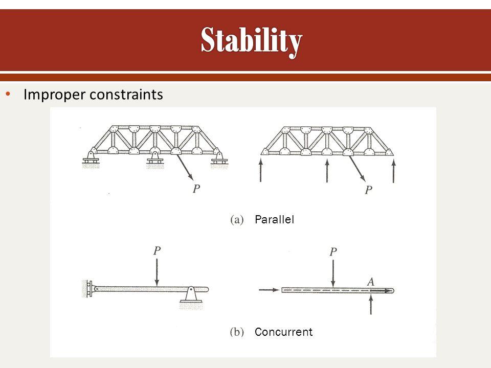Stability Improper constraints Parallel Concurrent