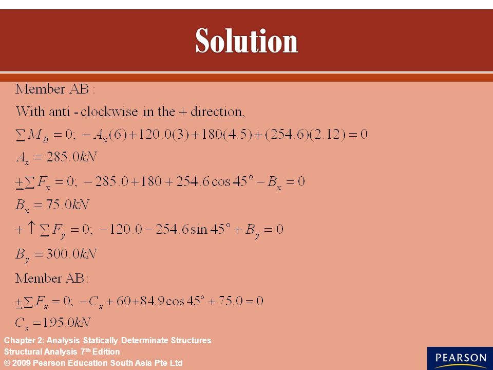 Solution Chapter 2: Analysis Statically Determinate Structures