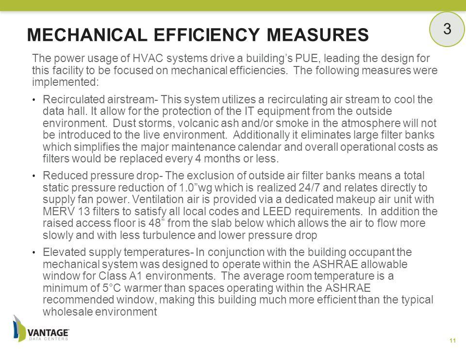 Mechanical Efficiency Measures
