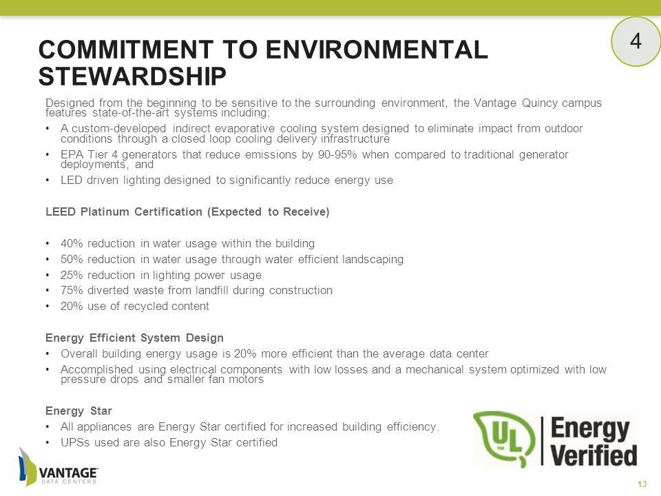 Commitment to Environmental Stewardship