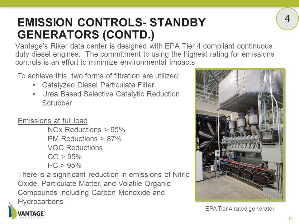 Emission Controls- Standby Generators (Contd.)