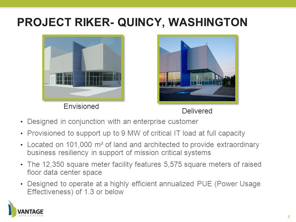Project Riker- Quincy, Washington