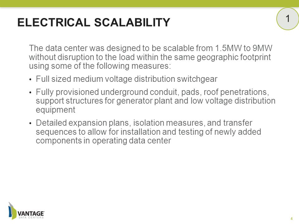 Electrical Scalability