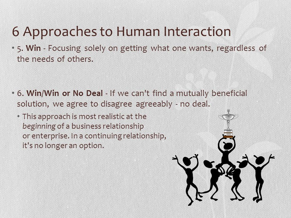 6 Approaches to Human Interaction
